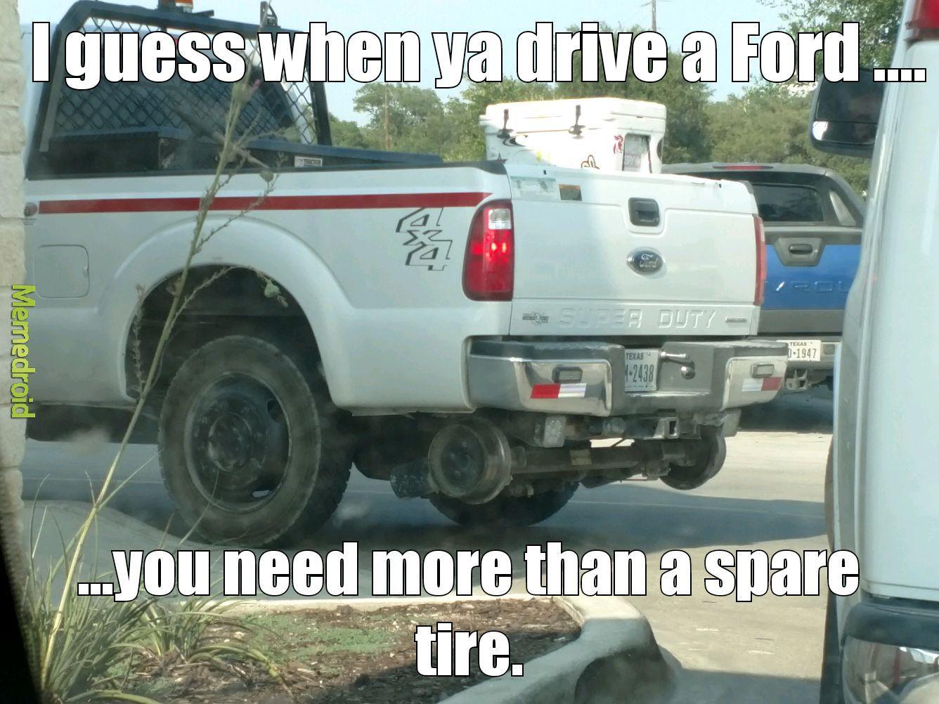 A spare what!!! - meme