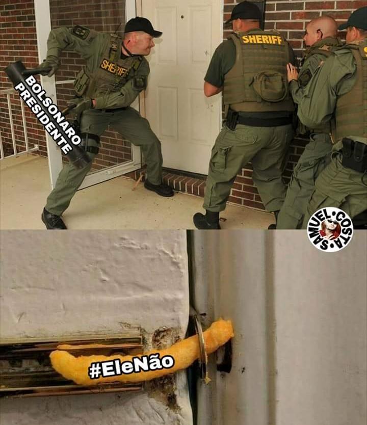 o Brasil ta cagando pro #elenão - meme