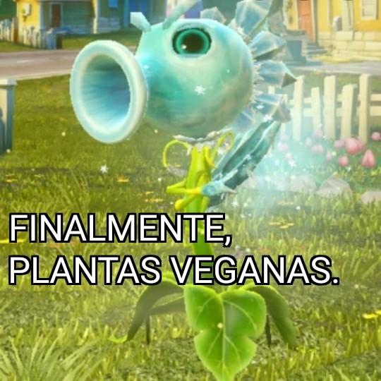 Plantas veganas - meme