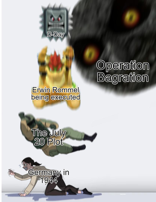 Germany couldn't catch a break - meme