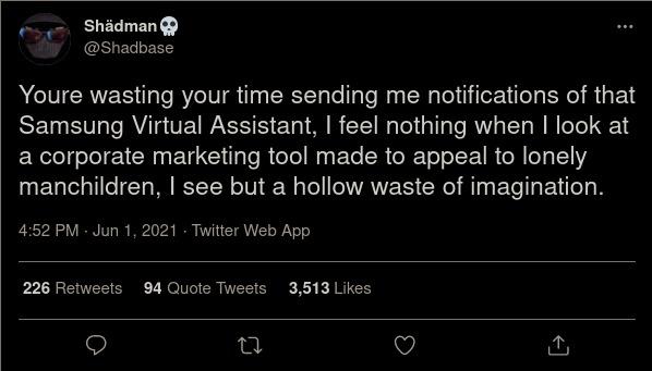 Shadman on Samsung Sam - meme