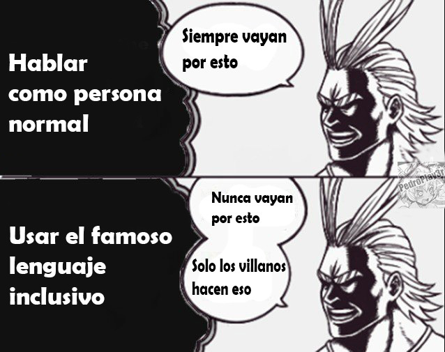 El lenguaje inclusivo - meme