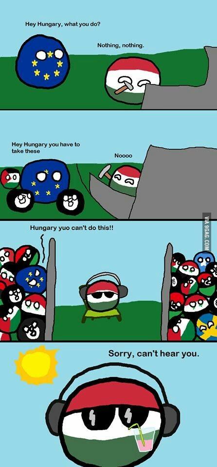 Hungria no quiere inmigrantes - meme