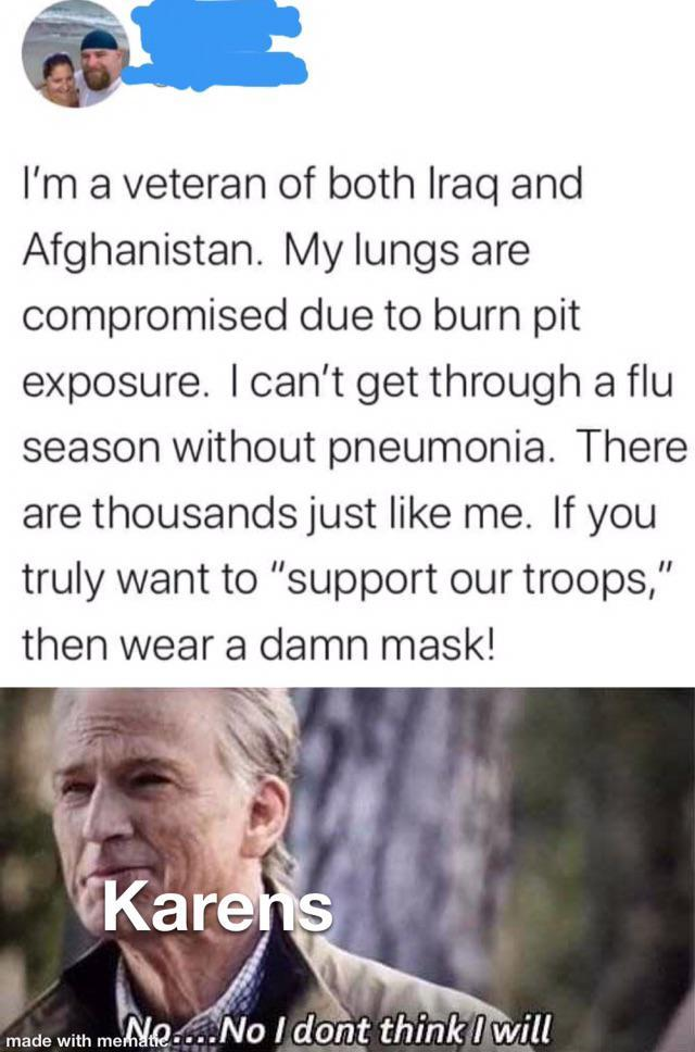Please Karens wear a mask - meme