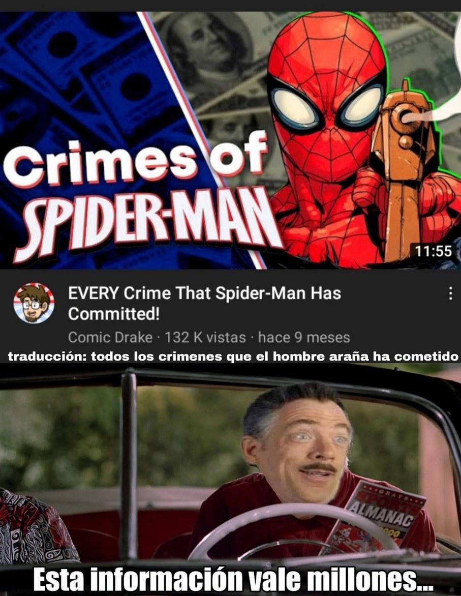 spiderman: :zoomer: Hombre araña: :boomer: - meme