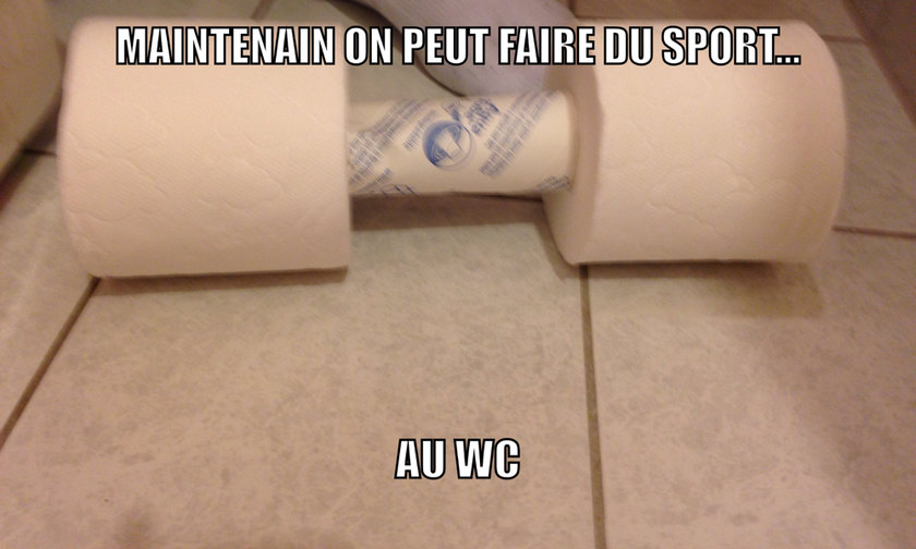 Sport au toilette - meme