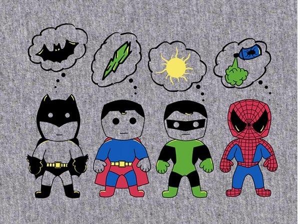 super heróis e suas fraquezas - meme