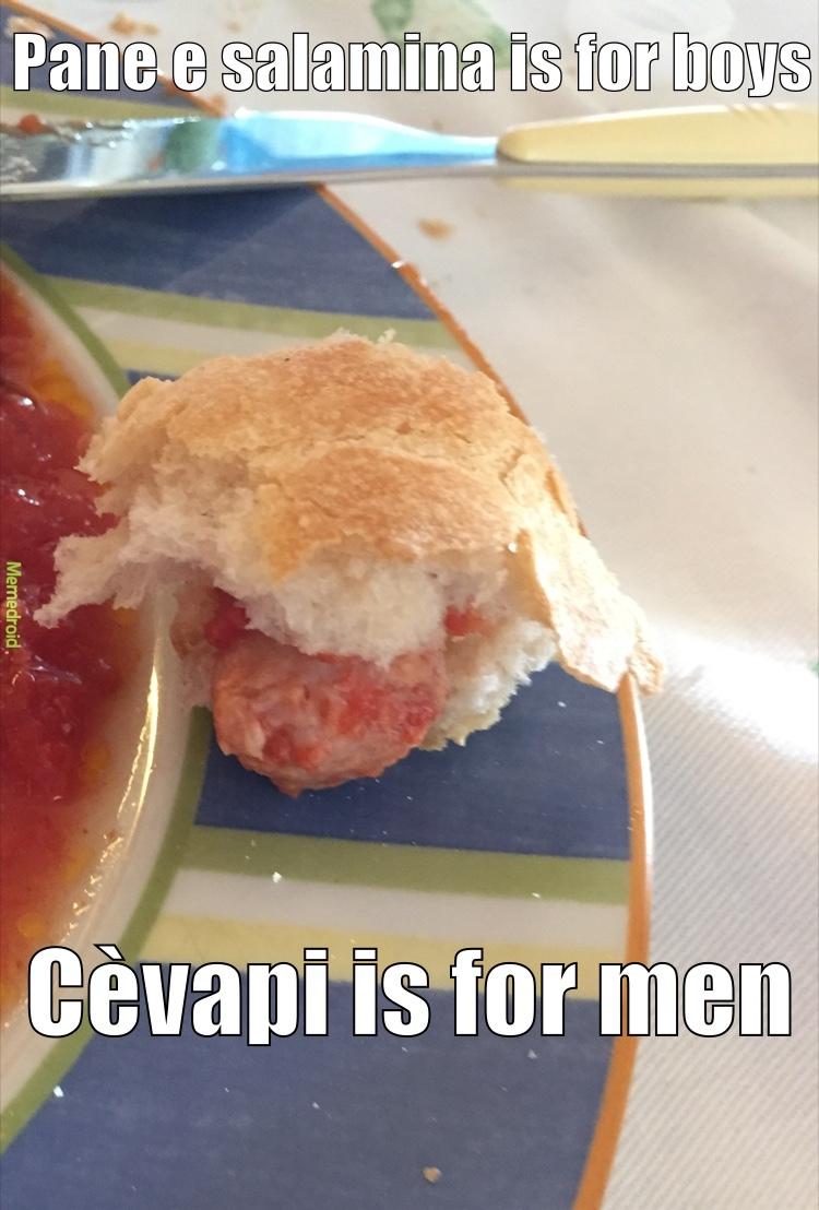 cibo tipico bosniaco - meme