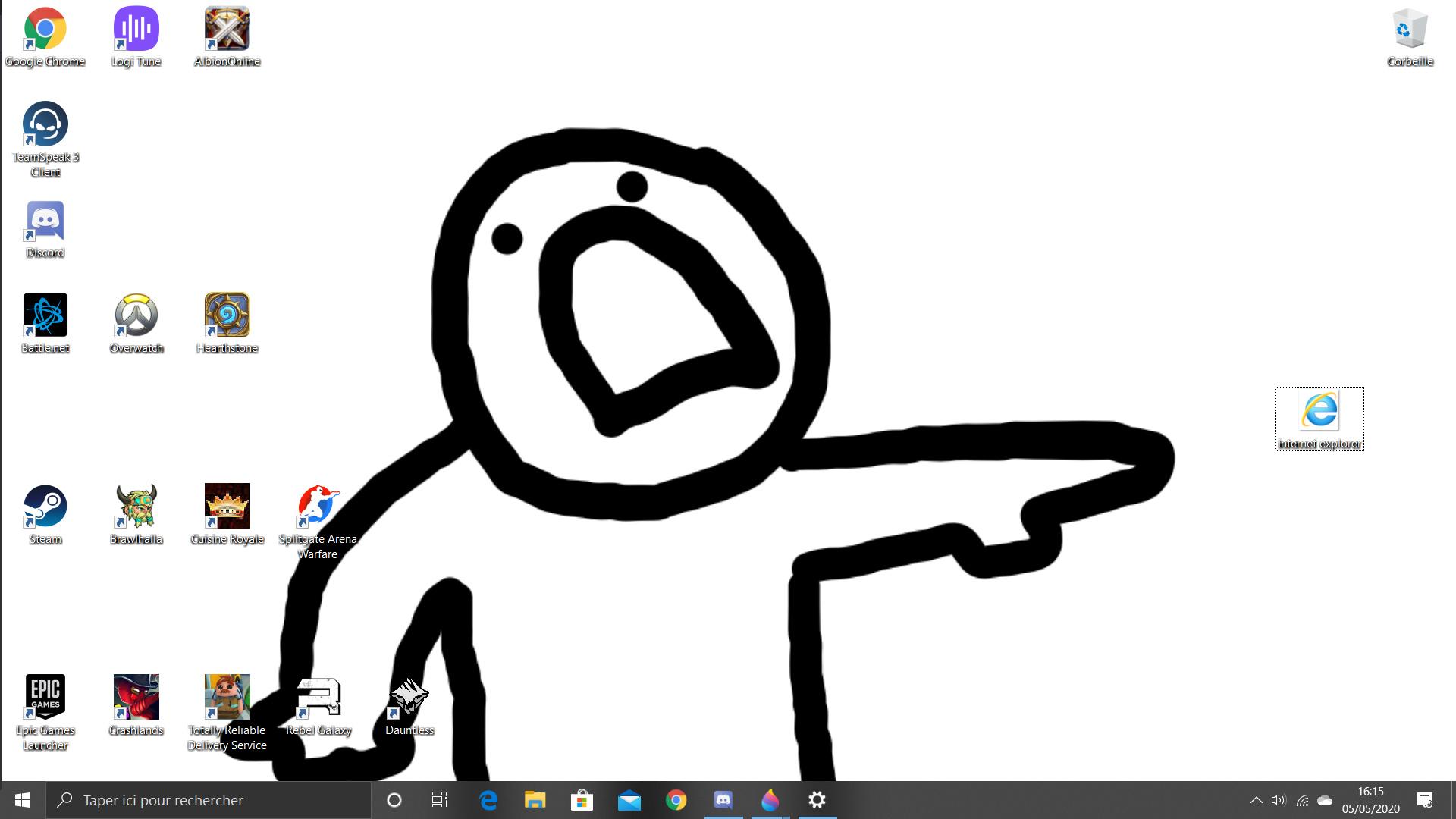 Fait sur Paint3D - meme