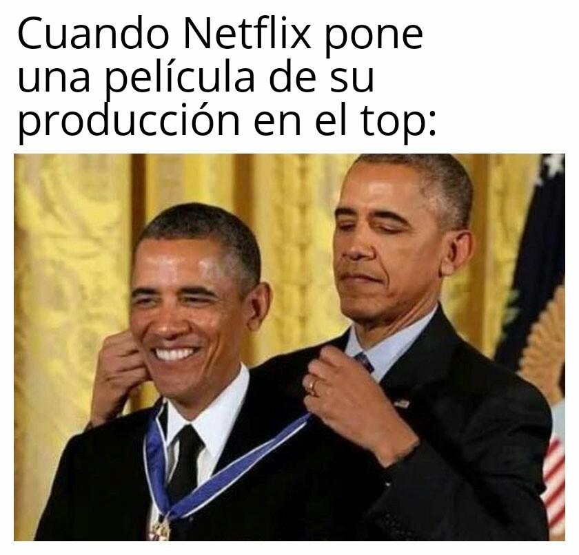 Netflix autopremiandose - meme