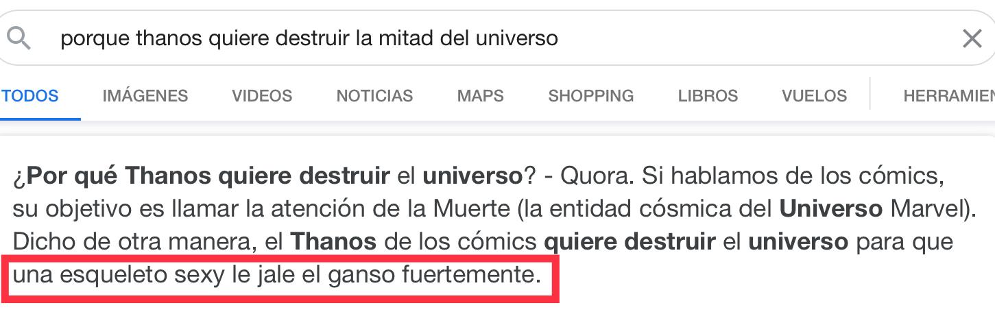 No manches, Con razón Thanos quería eliminar la mitad del universo XD - meme