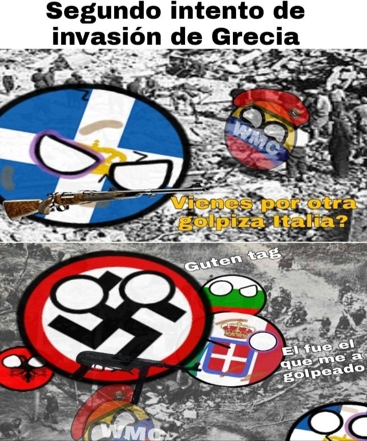 100% original, segundo intento de invasión a Grecia - meme