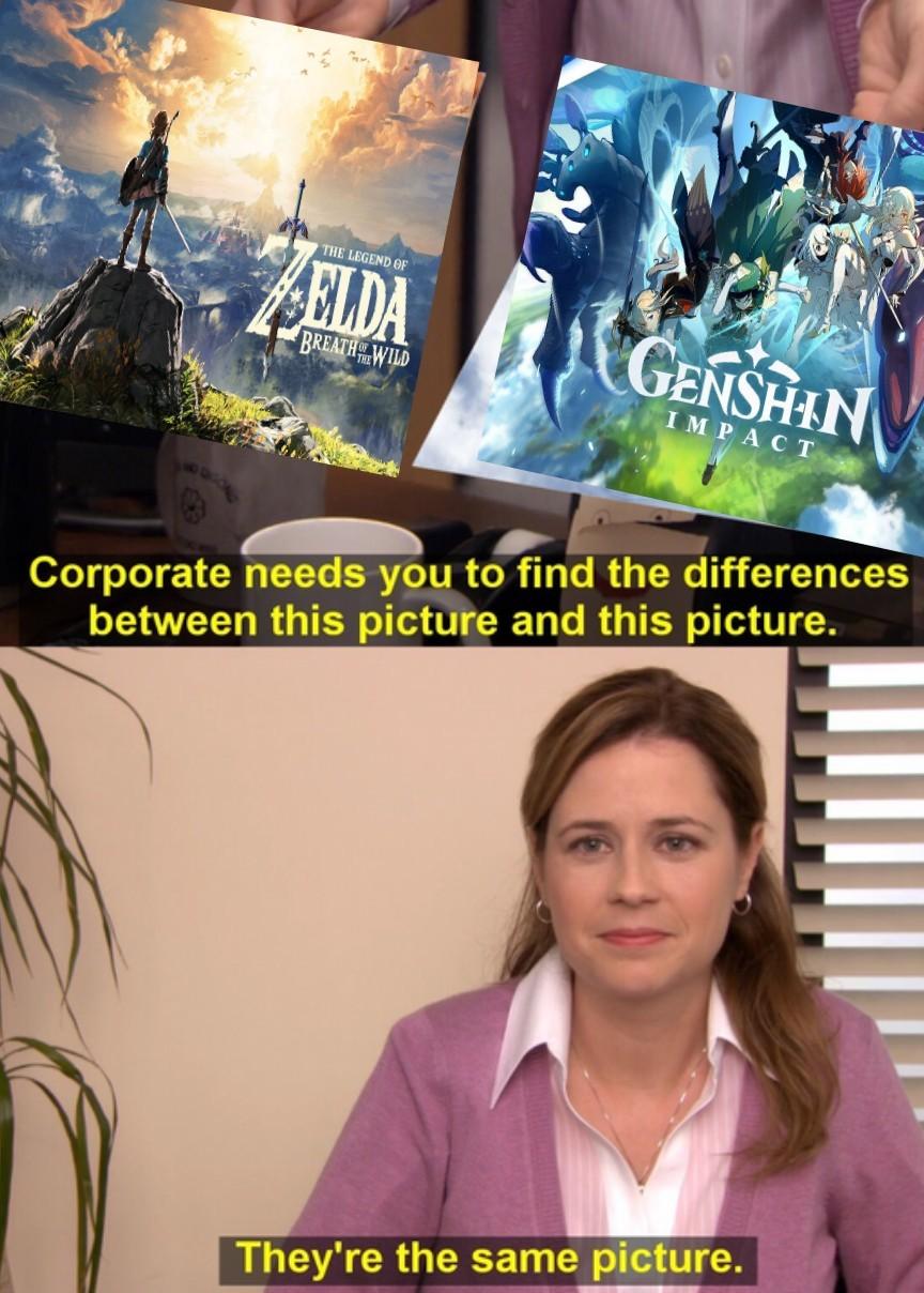 Contexto: el juego se ve gráficamente muy similar a BotW - meme