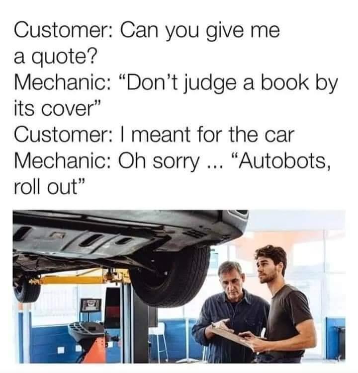 Mechanic puns - meme