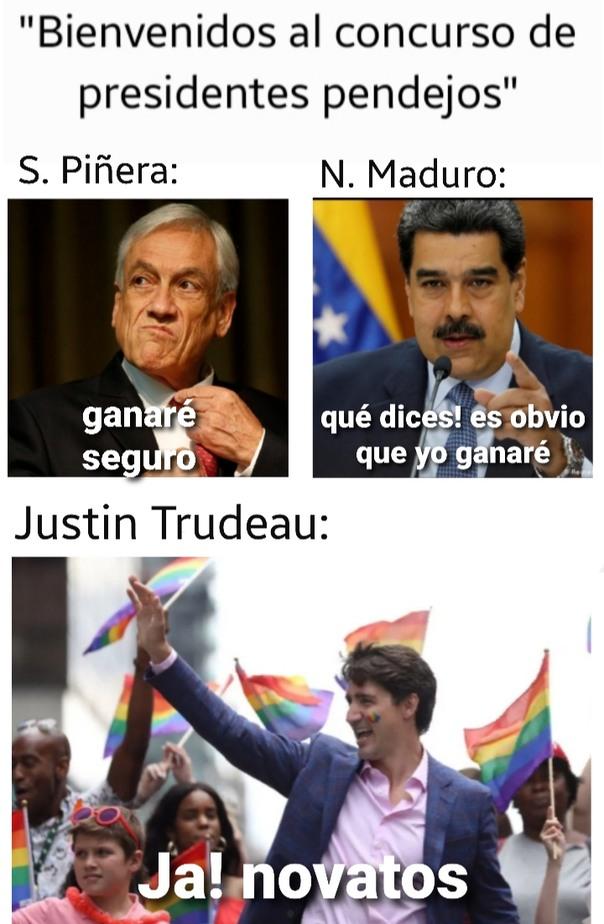 Los primeros me dan lo mismo, pero el Trudeau no lo dejo pasar - meme