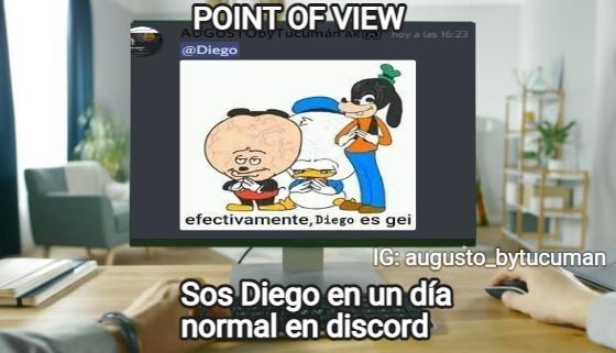 POINT OF VIEW FUA AMIGO ESE INGLÉS - meme