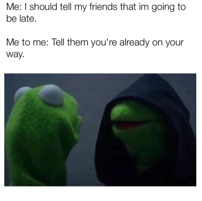 """i'm already leaving"" - meme"