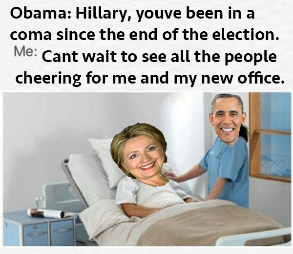 Hillary can't wait for that inauguration...... ohh - meme