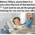 Hillary can't wait for that inauguration...... ohh
