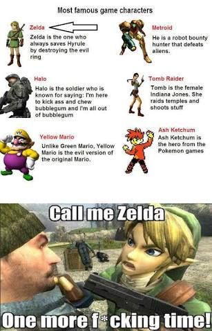 He is zelda - meme