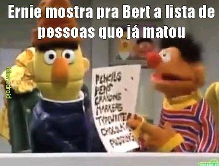 Ernie assassino de aluguel - meme