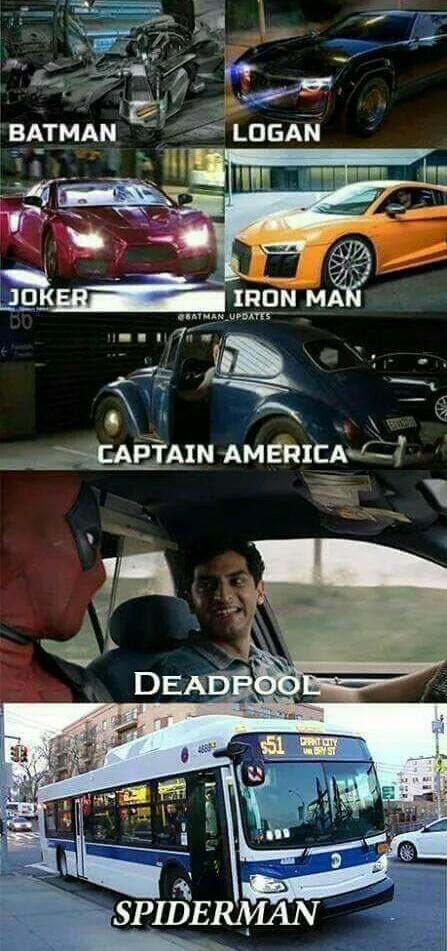 Les moyens de transport des héros - meme