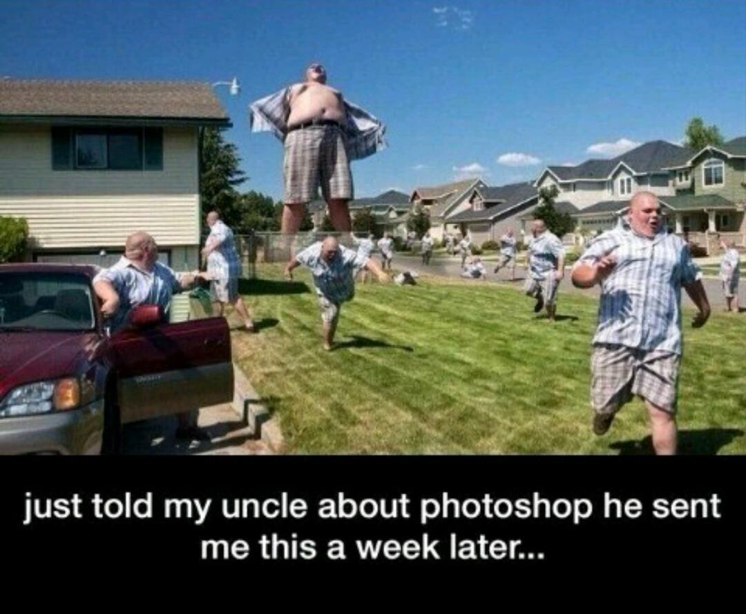 Photoshop lvl: uncle - meme