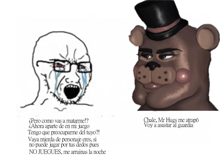Chale, maldito mr.hugs - meme