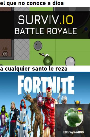 el tipico juego de informatica de batle royal - meme