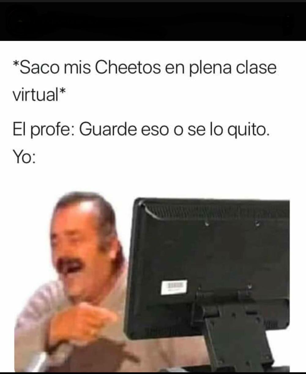 Profe son mis CHEETOS - meme