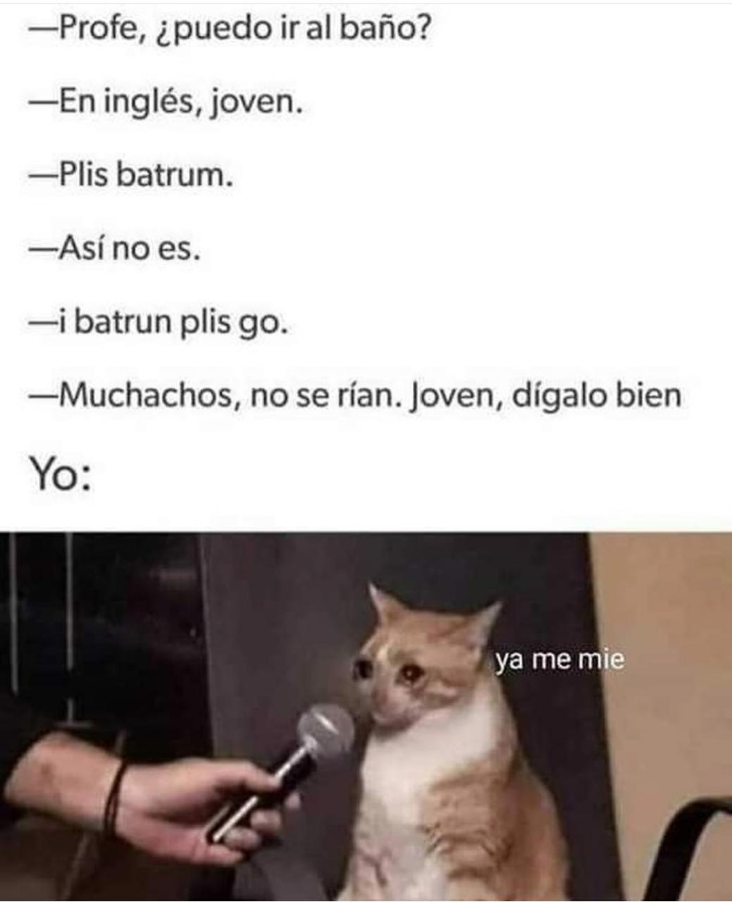 Inglés tipo Éxito - meme