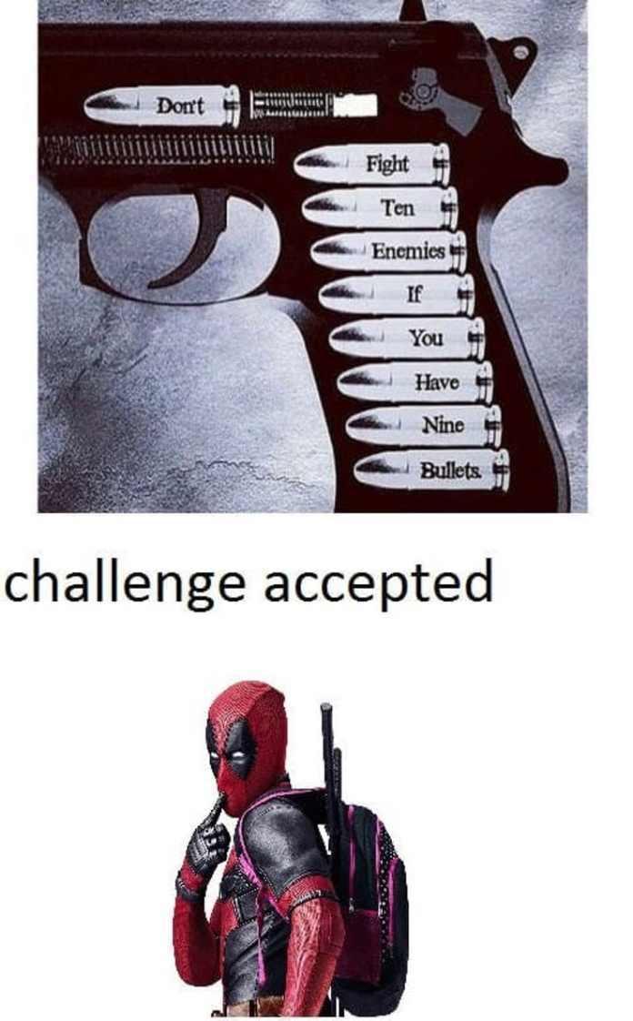 Los challenge de deapool - meme