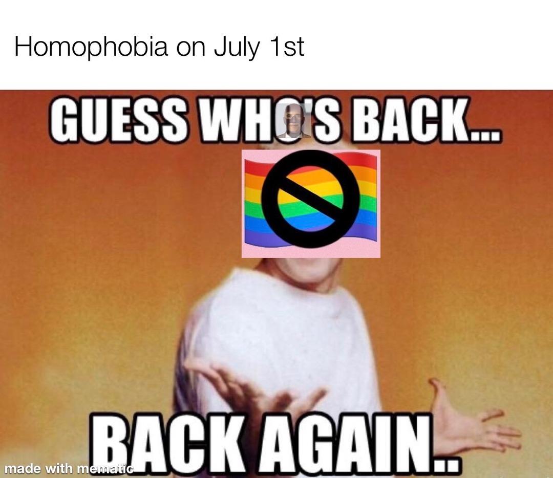 homophobia is based - meme