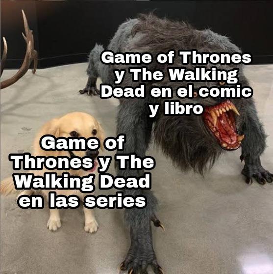Son re turbios (en especial The Walking Dead en el comic) - meme