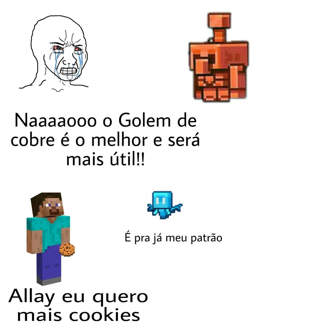 As votações serão amanhã (dia 16 de outubro no twitter oficial do Minecraft) - meme
