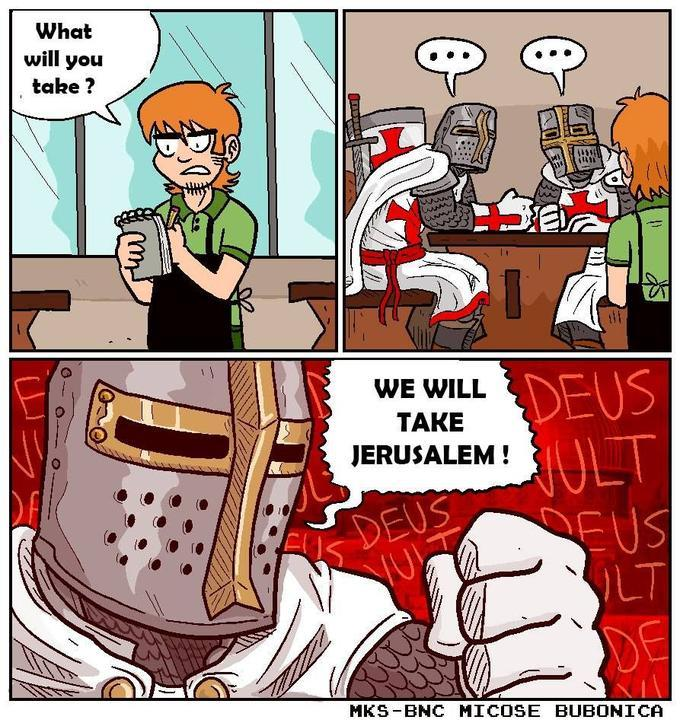 WE WILL RETAKE THE HOLY LAND!! COME BROTHERS DESTINY AWAITS!! - meme