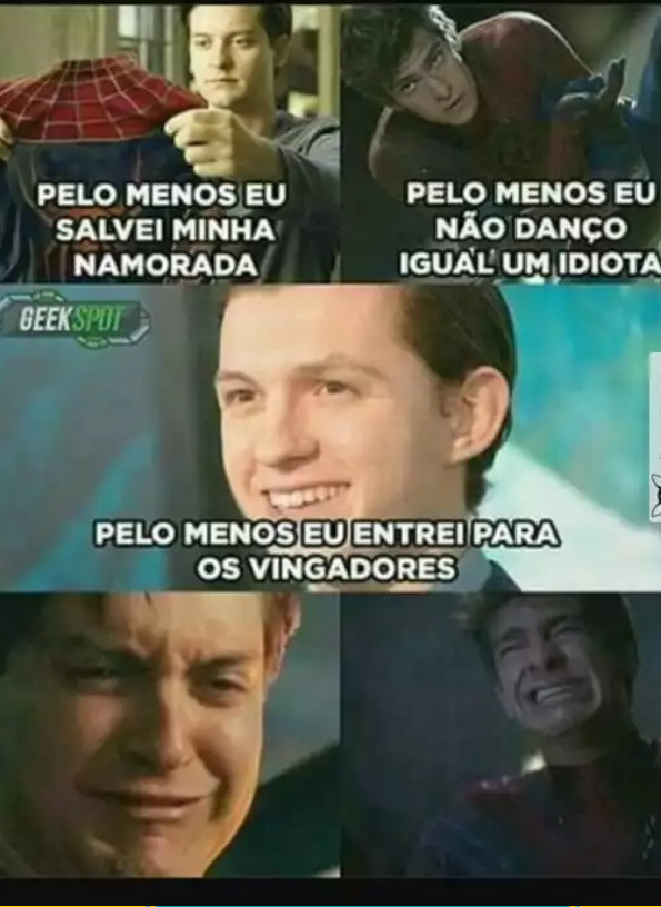 Tom Holland>>>>>>>all homens-aranhas - meme