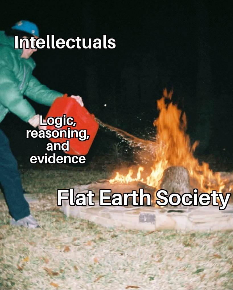 Burn, heathens! - meme