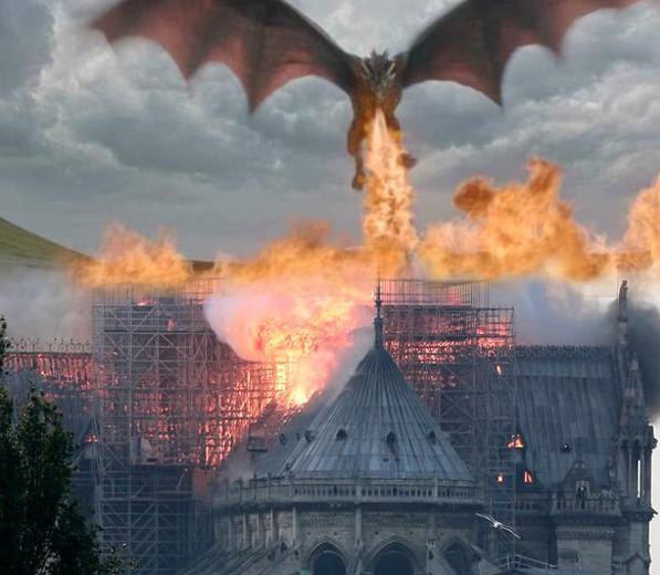 Game of Thrones vs. Notre Dame - meme