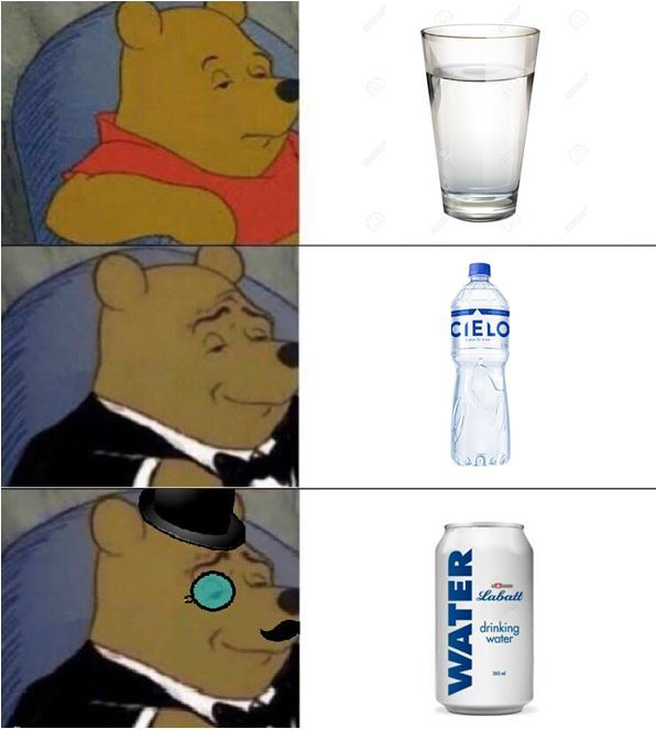Poniendo al agua elegante - meme