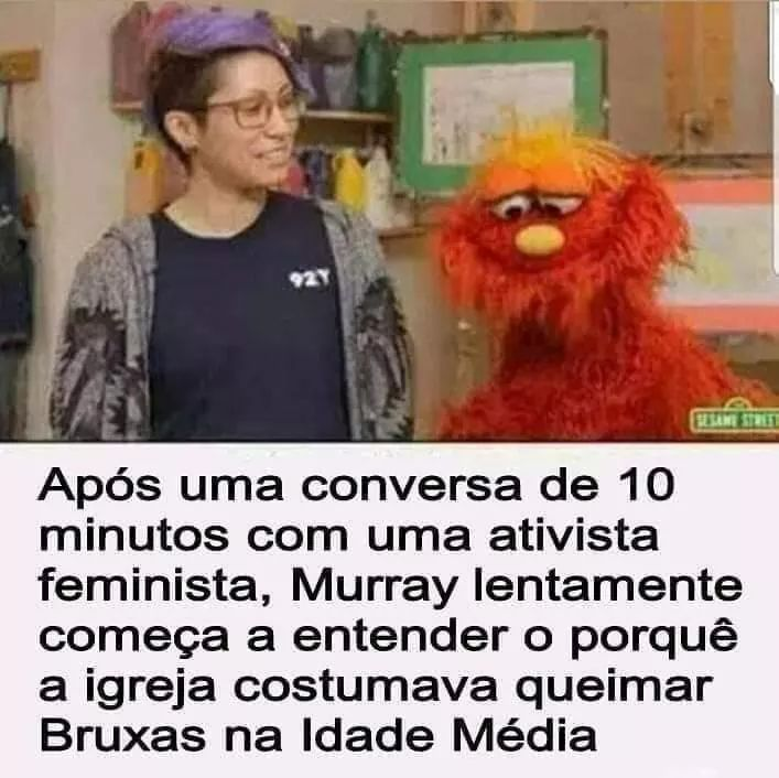 Feminista do inferno - meme