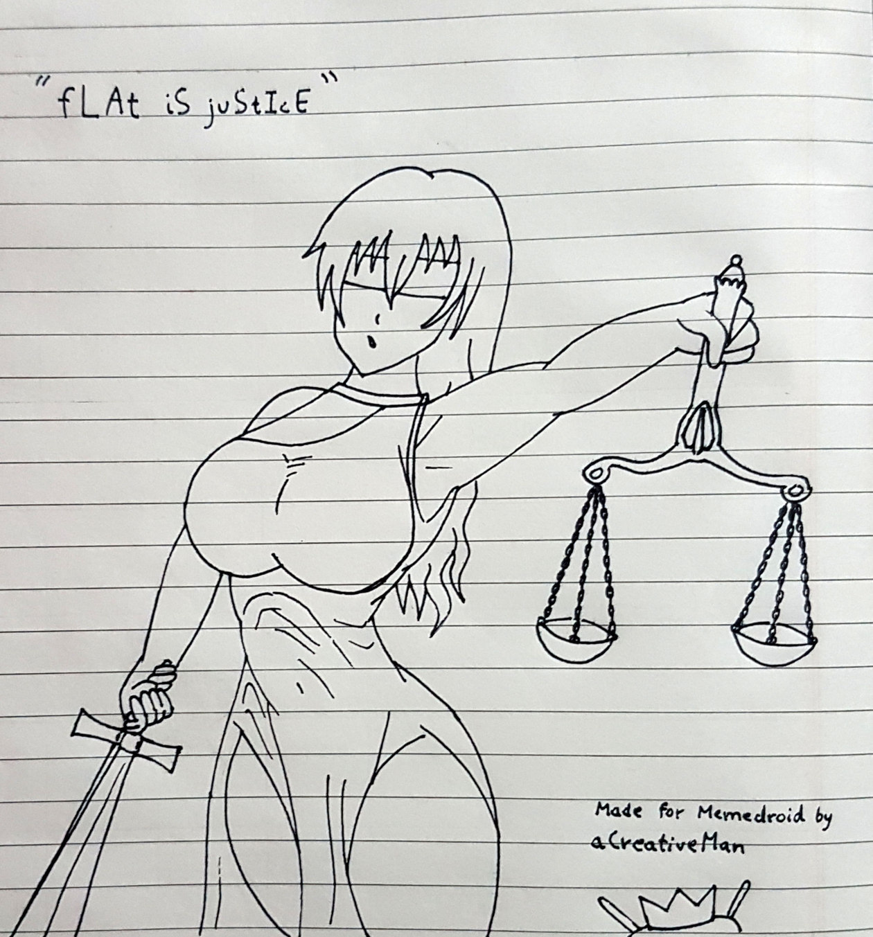 Justice isn't thicc - meme