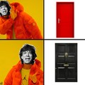 I see a red door and I want it painted _______