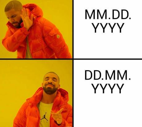 Date formats - meme