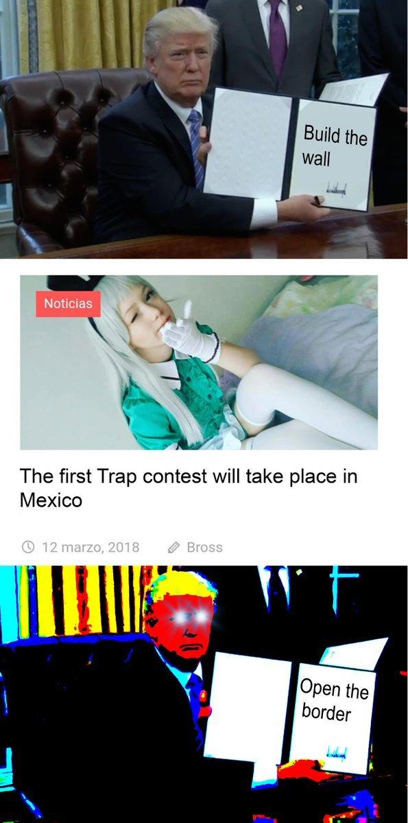 Traps yesn't gay - meme