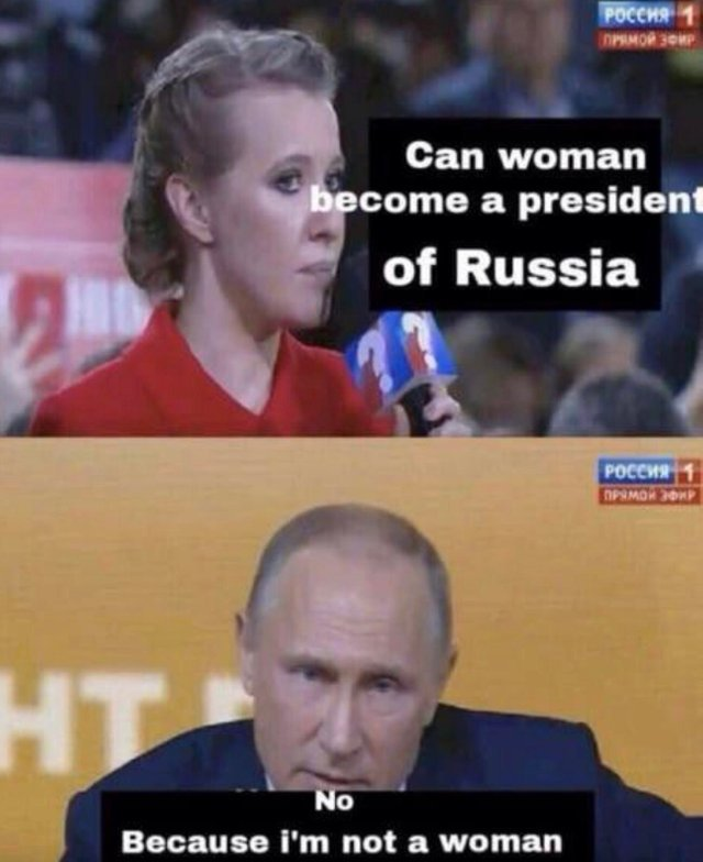 putin will be forever the presudent of russia - meme