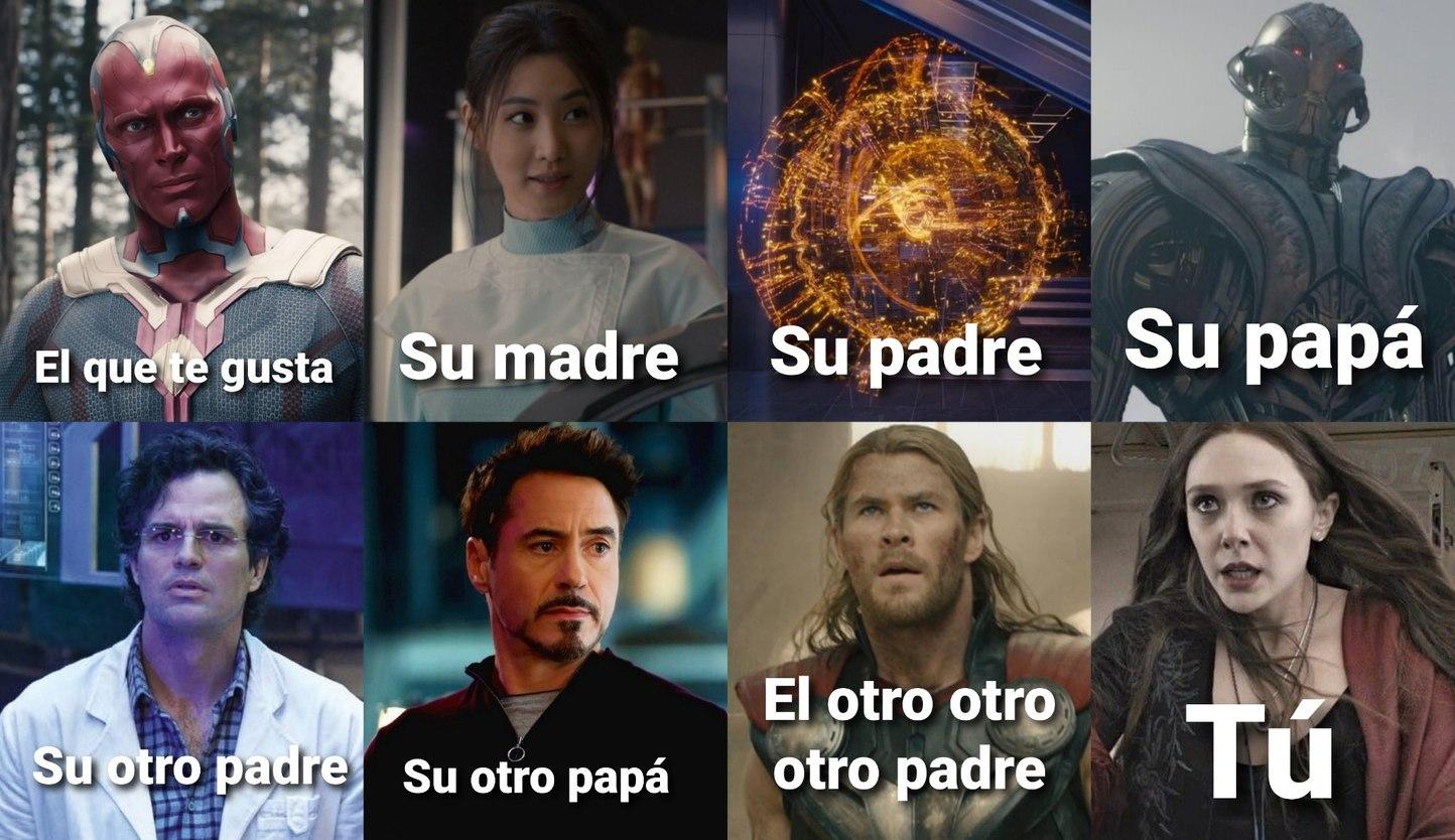 Vision tiene 5 papás - meme