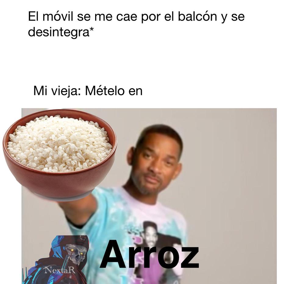 Mételo en arroz - meme