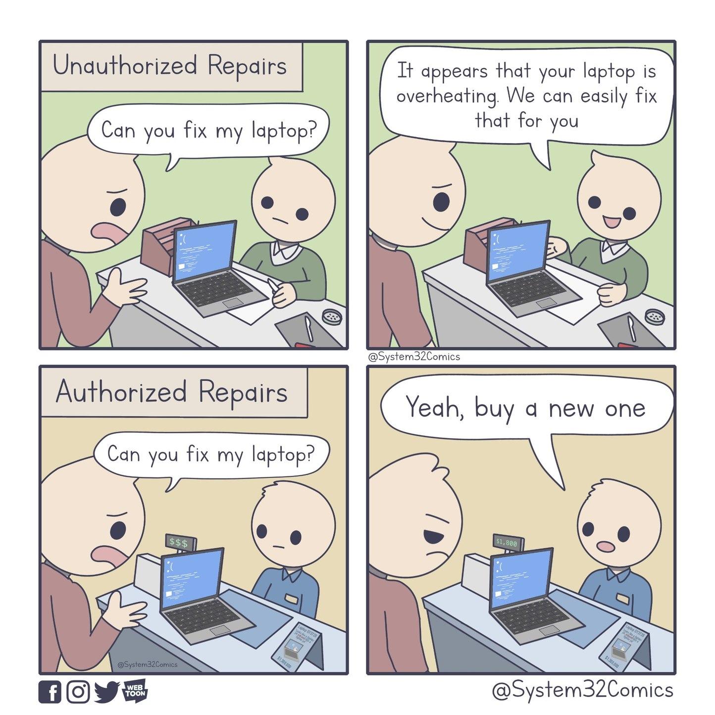 Laptop Repairs - meme