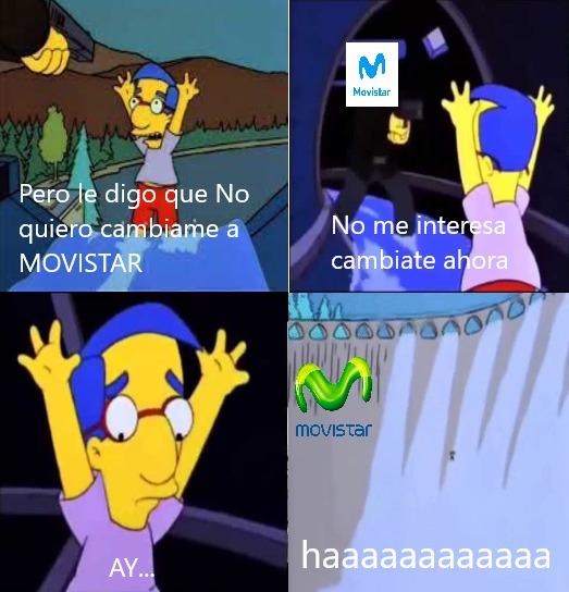 Myhouten no quiere cambia a Movistar - meme